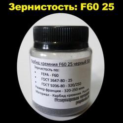 Карбид кремния F60 25 черный 50 г
