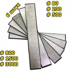 Набор алмазных брусков 6 шт 80-3000 грит для точилок RUIXIN PRO  на бланке