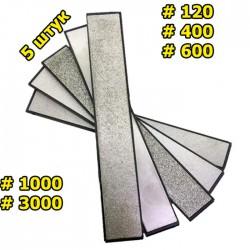Набор алмазных брусков 5 шт 120-3000 грит для точилок RUIXIN PRO