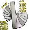 Набор алмазных брусков 9 шт 80-3000 грит для точилок
