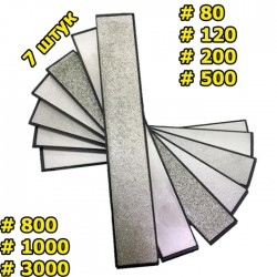 Набор алмазных брусков 7 шт 80-3000 грит для точилок