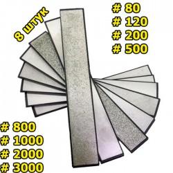 Набор алмазных брусков 8 шт 80-3000 грит для точилок